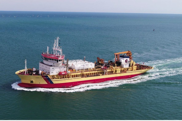 TSHD Samuel de Champlain: delivery of the first dredger converted to dual fuel, and first French flag vessel using LNG as a fuel